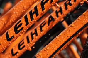 Leihfahrrad / Fahrradverleih orange